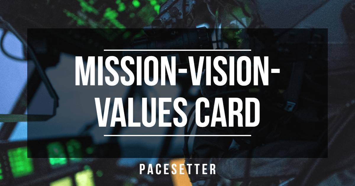 Mission Vision Values Card