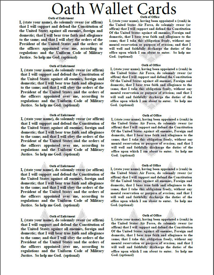 PACE U003e Products U003e Trifolds  Oath Of Office Template